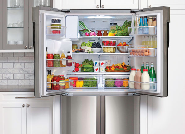 open fridge in kitchen. san diego maid services open fridge in kitchen h